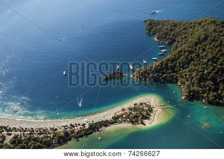 Oludeniz's aerial view