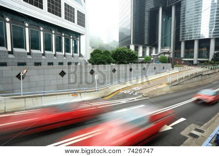 taxi blur in Hong Kong