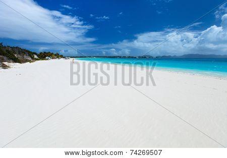 Beautiful tropical beach on Anguilla island, Caribbean