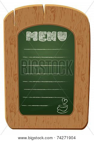 Wooden Sign Board - Object Isolated On White Background. Freehand Drawing On The Chalkboard: Word Me
