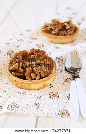 French Confectionery: Walnut Caramel Tart