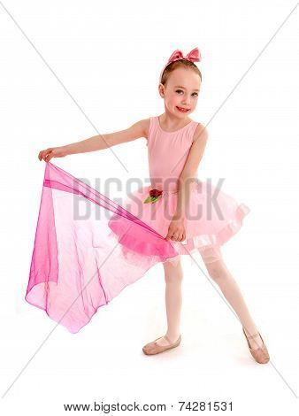 Ballerina Child In Pink Tutu