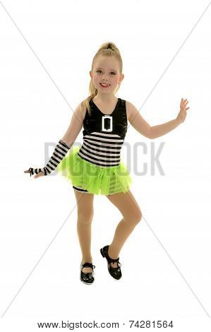 Tap Dancer Child In Jailhouse Costume