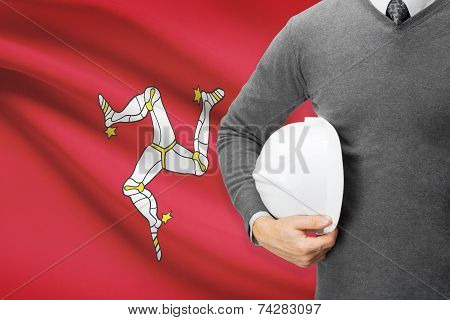 Engineer With Flag On Background - Isle Of Man