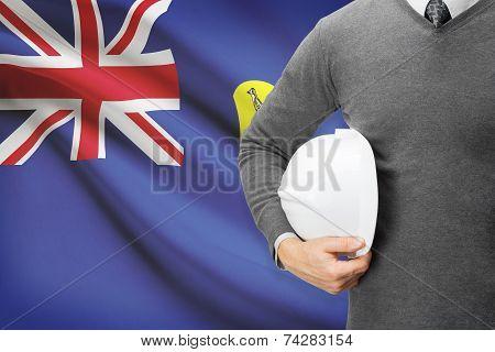 Engineer With Flag On Background - Saint Helena
