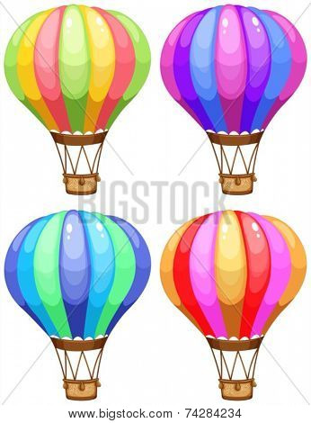 Illustration of a set of coloful balloons