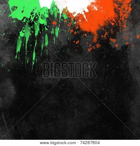 Grunge background with splats and drips