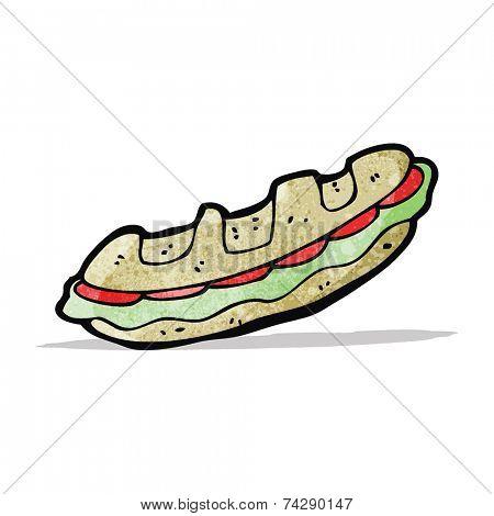 cartoon baguette