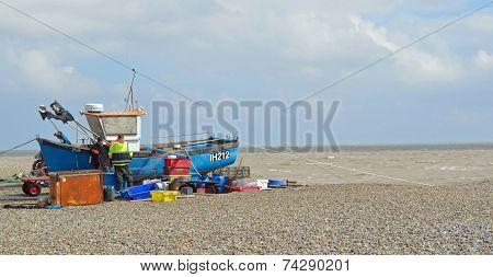 Aldeburgh Fishermen Mending Nets