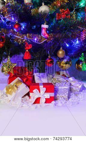 Christmas decoration on the fir