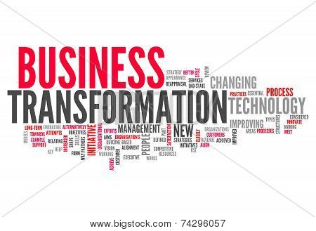 Word Cloud Business Transformation