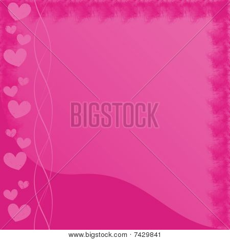 Pink HeartsFrame