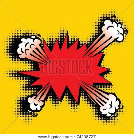 vector cartoon pop art explosion