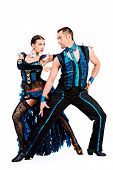 picture of tango  - Beautiful professional dancers perform tango dance with passion and expression - JPG