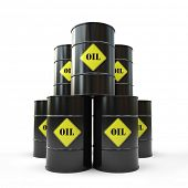 pic of cylinder pyramid  - Pyramid of black oil barrel 3D - JPG