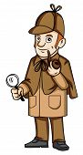 foto of private detective  - detective Editable  - JPG