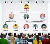 foto of hierarchy  - Diverse People in a Conference About Employment Hierarchy - JPG