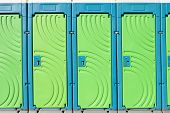 picture of septic  - close up of portable toilet doors - JPG