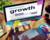 foto of growth  - Digital Dictionary Growth Market Brand Concept - JPG