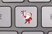 picture of telecommuting  - Santa Claus Icon Keyboard Computer Telecommuting Shipping Office Holiday Communication - JPG