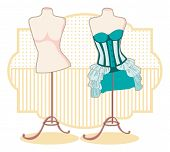 pic of girlie  - Corset With Petticoat on a mannequin - JPG
