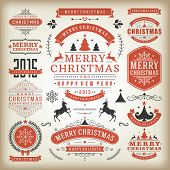 foto of christmas party  - Christmas decoration vector design elements - JPG