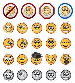 different kinds of Smiling faces icons