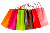 foto of brighten  - Shopping tour brightened isolated on white background - JPG