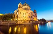 picture of dom  - The back of the Dom in Berlin at night - JPG