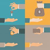 stock photo of bartering  - Vector business concepts in flat style  - JPG