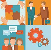 image of partnership  - Vector teamwork and cooperation concepts in flat style  - JPG