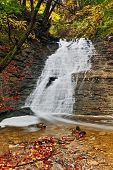 picture of buttermilk  - Beautiful Buttermilk Falls a waterfall in Ohio - JPG