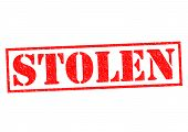 pic of snatch  - STOLEN red Rubber Stamp over a white background - JPG