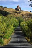 foto of armenia  - road to the monastic complex Sevanavank in Armenia - JPG