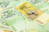 image of won  - South korea Won cash on the table - JPG