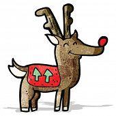 stock photo of rudolf  - cartoon reindeer - JPG