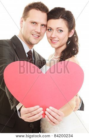 Married Couple With Heart Sign Symbol