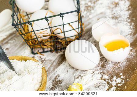 Eggs and Flour to make Tortellini