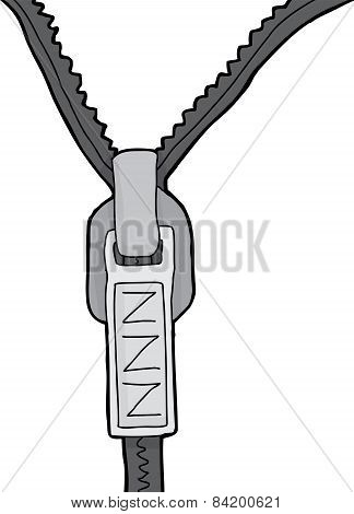 Isolated Zipper With Z