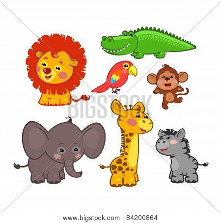 The cute African animals