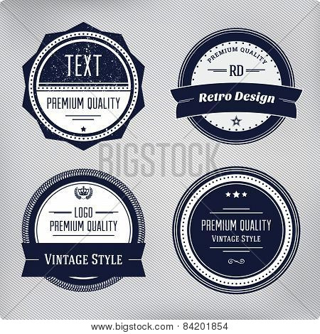 Retro Logo Elements Set