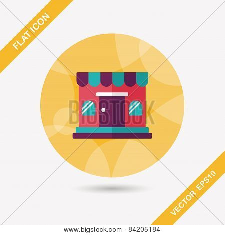 Shopping Store Flat Icon With Long Shadow,eps10