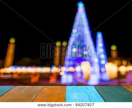 Image Of Defocused Ligths Of Christmas Tree