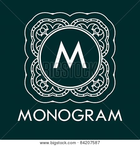 monogram design template with letters