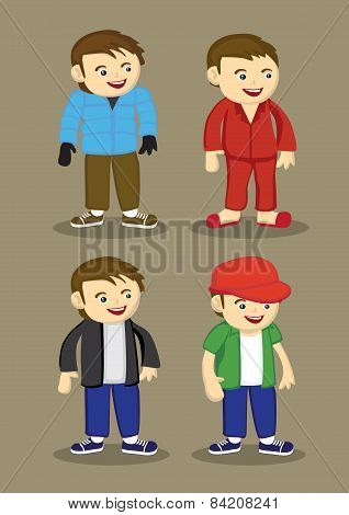 Men's Fashion Vector Illustration