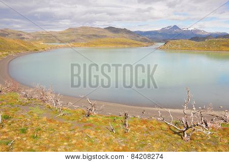 Lake of Torres del Paine National park.