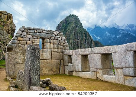 Intricate Stonework At Machu Picchu