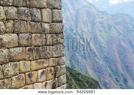 Machu Picchu Wall Closeup