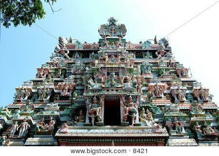 Tempel, Madurai. Indien