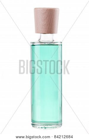 Perfume In Glass Botle Isolted On White